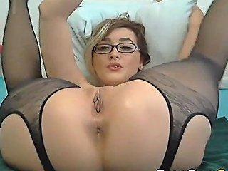 Hot Babe Drooling Wet Pussy Masturbation