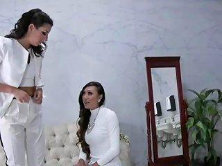 Classy Ladyboy Dominates Pussy In The Toilet Tranny Porn 90