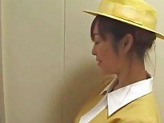 Japanese Elevator Handjob With White Gloves Free Porn 94