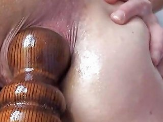 Extreme Anal Fucking Insertions Fisting Self Bedpost