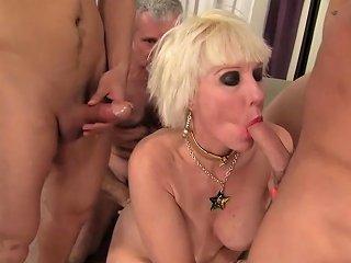 Grandma Dalny Marga Fucks Five Bastards Nuvid