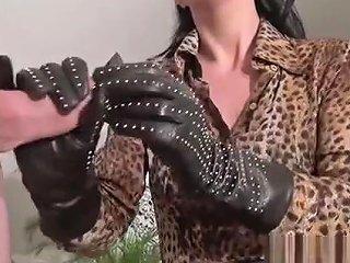 Luxury Leather Handjob