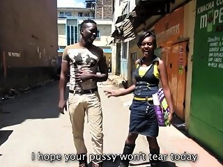 Real African Amateur Picked Up On The Streets Nuvid