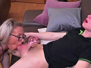 German MILF With Young Guy