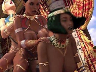 Futanari Threesome With Blonde And Ebony Big Tits Beauties Drtuber