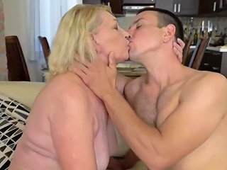 Horny Blonde Granny Enjoys Hard Cock In Her Pussy Upornia Com