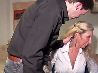 Deep Anal For German Mature Nadja In Stockings At Work