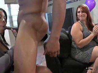 CFNM Party With Girls Enjoying Strippers And Fucking Them