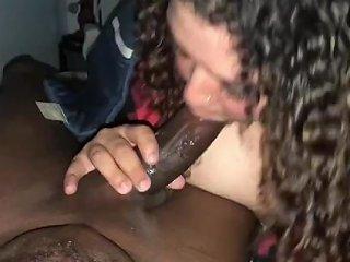 Sexy Bbw Swallows Thick Long Bbc