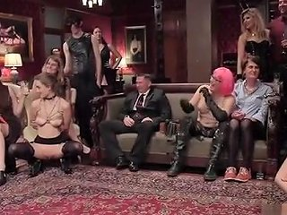 Double Penetration At Orgy BDSM Party