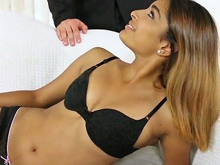 Filthy College Chick Katalina Mills Seduces Her Bald Headed Drives