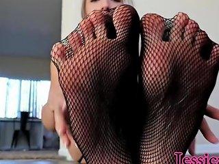 Foot Fetish Goddess Jessica Jones Posing In Her Black See Through Lingerie Hdzog Free Xxx Hd High Quality Sex Tube