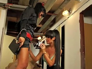 Two Gorgeous Brunette Lesbians Get Off With The Magic Wand Vibrator