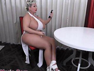Huge Saggy Fake Tits Interracial