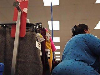 Fat Ass Mexican Ssbbw Granny Shopping