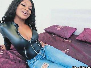 Big Tit Black In Leather Bodysuit Wants Cock Drtuber