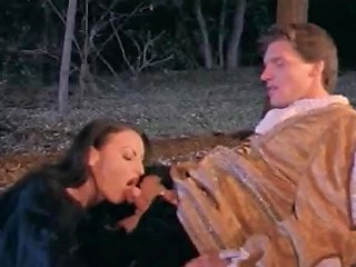 Anal Sex Outdoors In The Night In The Woods With A Medieval Babe