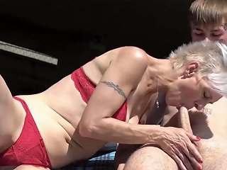 Pixie Grandma Swallows Young Cock Beneath Bridge Porn Videos