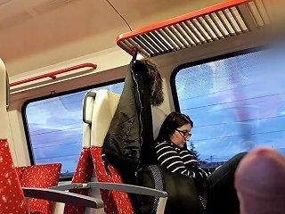 Nerdy Teen Dickflash In Train