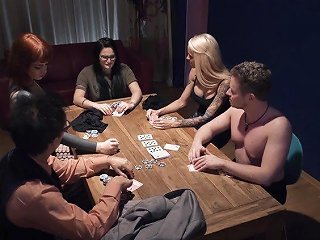 After Blowing Cock Slutty Housewife Holly Banks Turns Poker Into Steamy Fuck