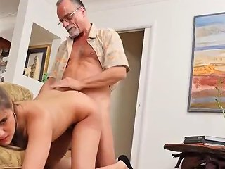 Teen Babe Pussylicked Before Sex With Old Guy