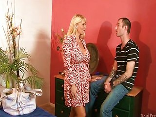 Blond Mom Forced Son On
