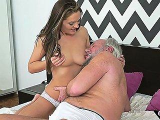 18yo Debutante Plowed By Lucky Grandpa