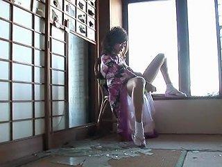 Chiaki In Kimono Uses Sex Toys To Have Huge Orgasm Avidolz