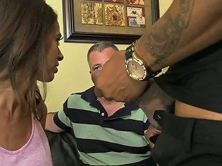 Always Sex Hungry Wife Eva Long Gets Her Holes Blacked In Front Of Her Cuckold Husband