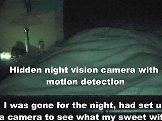 Hidden Night Vision Camera Caught Wife Masturbating Humping Amp Riding