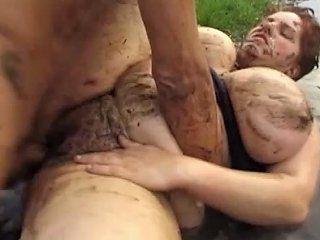 Crazy BBW Mud Fuck