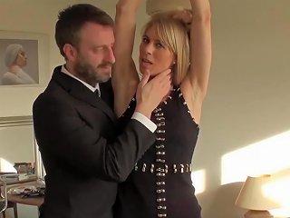 Punished Brit Milf Swallows Warm Cum Of Her Big Dick Master