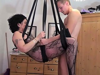German Step Son Fuck Mother With Stockings In Love Swing Nuvid