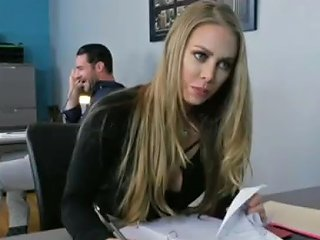 Nicole Aniston Gets Naughty In Office