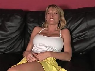 Busty Babe Fucks On The Couch