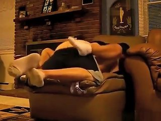 Hot Ass Chick Gets Quicky On The Sofa