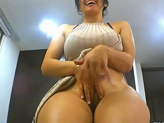 Big Ass MILF Rubs Her Tight Cunt For You